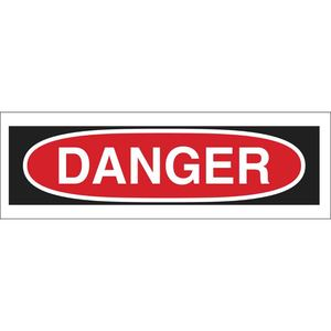 "Brady 88922 Danger Header, Self Sticking, 2.25"" x 9"", Outdoor Use"