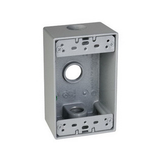 "Hubbell-TayMac SB350S Rectangular Outlet Box, Three 1/2 "" Holes"