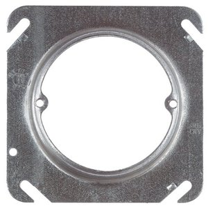 """Steel City 52C3-25 4"""" Square Exposed Work Cover,(1) Single Receptacle,Mud Ring"""