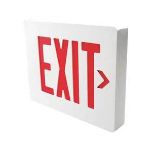 Hubbell-Dual-Lite SESGBNEI DUAL-LITE SESGBNEI DIE CASTGREEN LED EXIT SIGN SINGLE SIDED