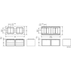 Hoffman WFHD3VB3630 Base for Modular Enclosures