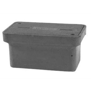 "Hubbell-Quazite PG1118BA12 Stackable Box, 11"" x 18"" x 12"", Open Base, Polymer Concrete"