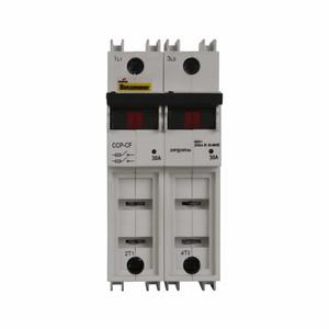 Eaton/Bussmann Series CCP-2-30CF Compact Circuit Protector, 2-Pole, 30 Amp, for Cube Fuses
