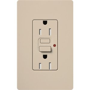 Lutron SCR-15-GFTR-TP Receptacle, Tamper Resistant, Taupe