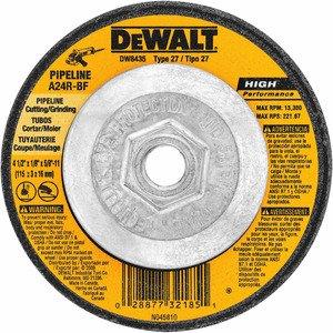 "DEWALT DW8435 4-1/2""x1/8""x5/8""-11 Pipeliner Cut/grd Wh"