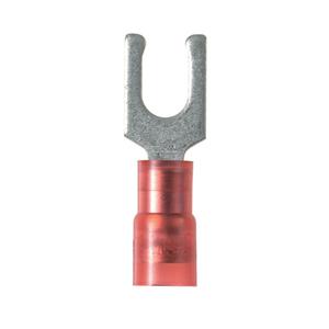 Panduit PN18-6LF-C Fork Terminal, Locking Type, Nylon Insulated, 22 - 18 AWG, Stud: #6
