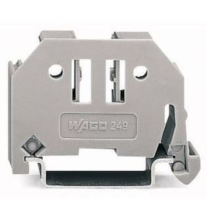 Wago 02490116 Terminal Block, End Anchor, Screw Less, 6mm, Gray