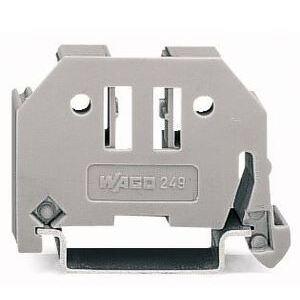Wago 02490116 Terminal Block, End Anchor, Screw Less, 6mm, Gray