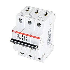 ABB S203-D40 Breaker, Miniature, DIN Rail Mount, 40A, 3P, 480Y/277VAC, 6kAIC
