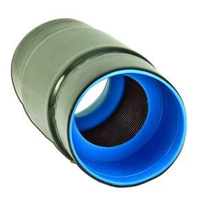 "Plasti-Bond PRCPLG-AL-3 3"" PVC Coated Coupling, Aluminum"