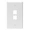 410802WP 2 PORT WALLPLATE WHITE