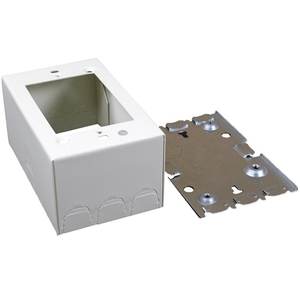 Wiremold V5747 Shallow Switch/Receptacle Box, 1-Gang, 500/700 Series Raceway, Ivory