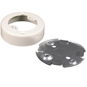 Wiremold V5733 Round Outlet Box, 500/700 Series Raceway, Steel, Ivory
