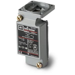 Eaton E50SB Limit Switch, Body Only, 2P, 2NO/2NC, Compact, 10A, 600VAC