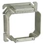 "Appleton 8469B 4"" Square Cover, 2-Device, Mud Ring, 1-1/4"" Raised, Drawn, Metallic"