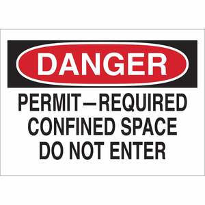 25921 CONFINED SPACE SIGN