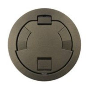 """Wiremold 6CT2BS Flush Style Cover Assembly, 7-1/4"""" Round, Brass"""