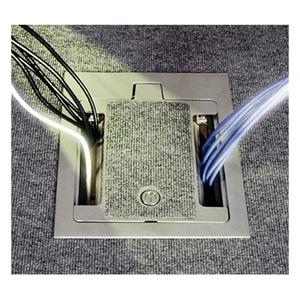 "Wiremold RFB9 Floor Box, 9-Gang, Depth: 4-1/8"", Metallic"