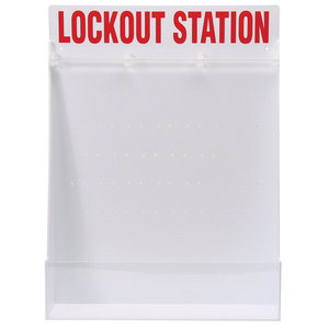Brady 50994 Large Lockout Station, English Open Style Station, Empty