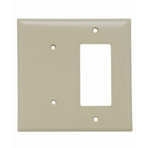 Pass & Seymour SP1426-I 2-Gang, Blank/Decora, Thermoset, Ivory