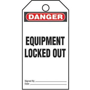 Panduit PVT-96-Q Plastic Tag, 'Danger Equipment Locked Ou