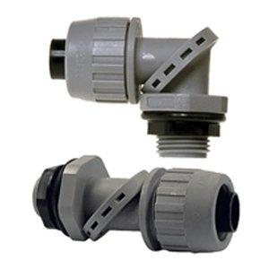 """Hubbell-Raco 4734-8 Liquidtight Connector, 1"""", Non-Metallic"""