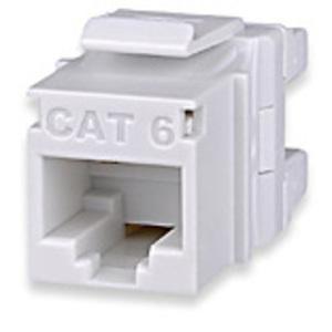 Signamax KJ458MT-C6C Cat 6 Keystone Jack, T568A/B Wiring, Light Ivory