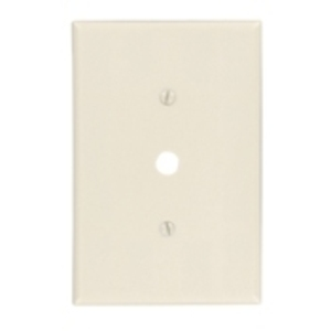 "Leviton 86113 Phone/Cable Wallplate, 1-Gang, .406"" Hole, IV Themoset, Ovr"