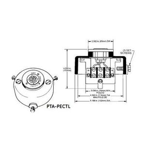GE Lighting PTA-PECTL Fixture Adapter, Pole Top, For Locking-Type Photocells