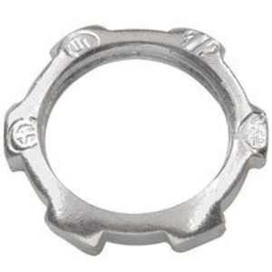 "Cooper Crouse-Hinds 18 Locknut, Size: 3"", Material: Steel"