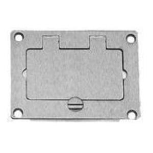 Wiremold 828PRGFI-BLK Floor Box Cover, 1-Gang, Type: Decora/GFCI, Black, Non-Metallic