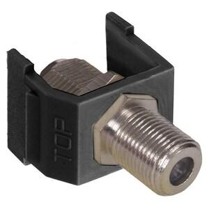 Hubbell-Premise NSF70BK SNAP-FIT F-CONN NICKEL NETSELECT BK