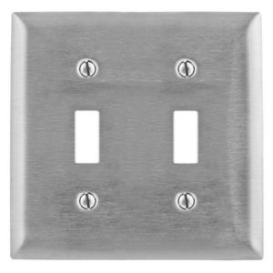 Hubbell-Wiring Kellems SS2L WALL PLATE, 2-G, SWITCH,