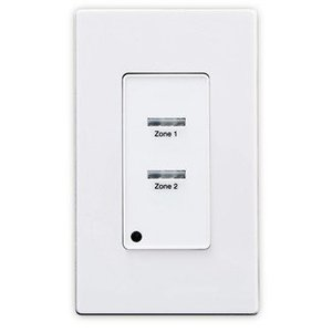 Leviton LVS-2W Pushbutton Station, 2-Button, White