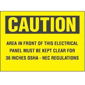 "Panduit PPS0710C141 Adhesive Sign, Polyester, 10"" X 7"", CAUT"