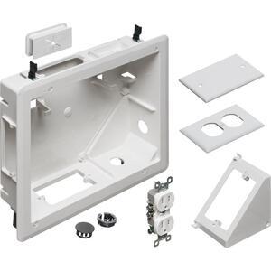Arlington TVB810 Recessed Electrical Box Kit White