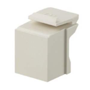 Leviton 41084-BI Snap-In Blank, Quickport Module, Ivory, Bag of 10
