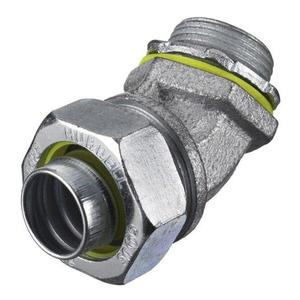 Hubbell-Wiring Kellems H0504 Liquidtight Connector, 45°, Size: 1/2, Material: Steel
