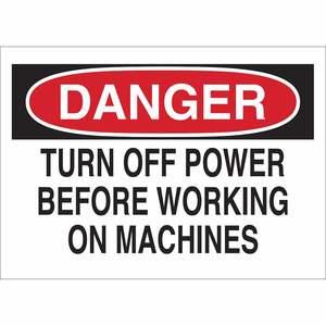 23041 MACHINE & OPERATIONAL SIGN