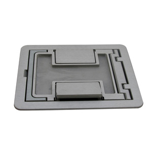 Wiremold FPCTCAL Cutout Cover Assembly, Die Cast Aluminum, For Use with Tile/Carpet
