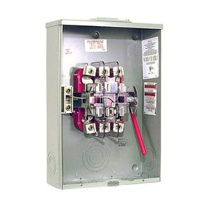 Milbank U9701-RXL Meter Base, 200A, 600VAC, 7 Jaw, Ringless, OH/UG Service, Blank Hub