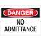 40680 ADMITTANCE SIGN