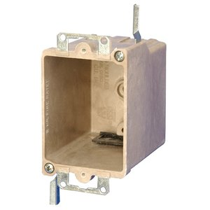 "Allied Moulded 9363-EWK Switch/Outlet Box, 1-Gang, Depth: 2-7/8"", Old Work, Non-Metallic"