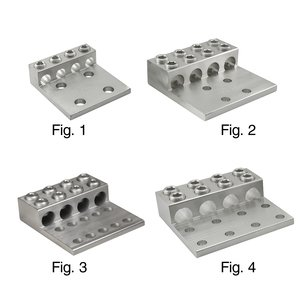 Ilsco T4A4-350N AL MEC T4-350 (3)350-6 (4)9/16-1-3/4T UL