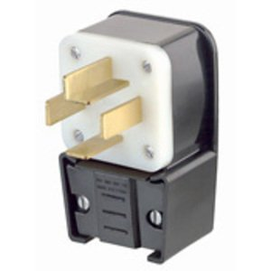 Leviton 8332-P 30 Amp Angle Plug, 120/208V 3PH, 18-30P, Non-Grounding