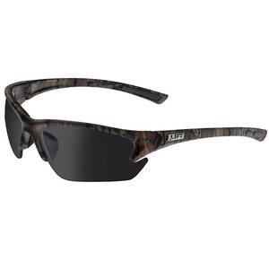 Lift Safety EQT-12CFST Quest Protective Eyewear, Half Frame, Camo Frame, Smoke Lens