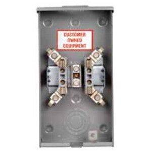 Siemens UAT317-0PZA Meter Base, 135A, 1PH, 4 Jaw, OH, RX Hub Opening, Ringless, Steel, 3R