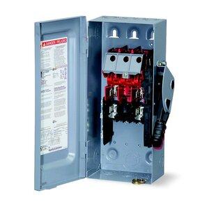Square D H222N Disconnect Switch, Fusible, NEMA 1, 60A, 2P, 240VAC, Neutral