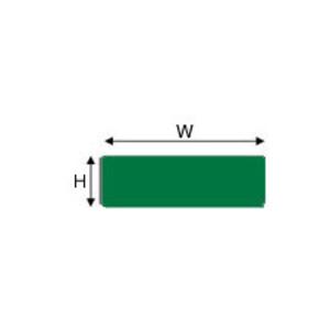 "Brady THTEP-171-593-.5GN Raised PanelLabel, Green, 0.49"" H x 1.06"" W"