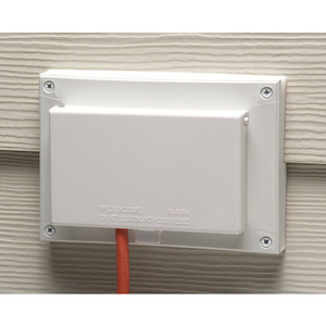 Arlington DBHR171C Recessed Box With Weatherproof In-Use Cover, 1-Gang, Horizontal Mount